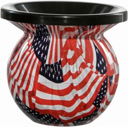 American Flag Mud Jug